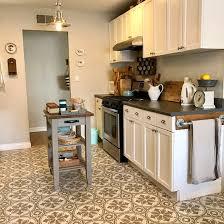 jazz up an kitchen floor with a tile stencil stencil stories