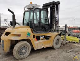 100 Industrial Lift Truck 20000 Lb CAT P20000 Pneumatic Tire SOLD