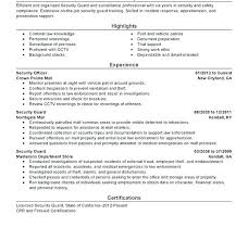 Security Supervisor Resume Cover Letter Samples Guard Objective