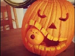 Devil Emoji Pumpkin Carving by Pumpkin Carving Tutorial Youtube