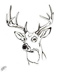 Coloring Pages Of Deer Heads 2