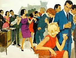 My Favorite Vintage Cocktail Party Illustration Soooo Mid