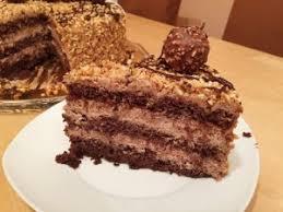 rocher torte mit nutella und haselnüssen rochertorte