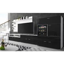 möbel set oberschrank wohnzimmermöbel tv basisgerät esszimmer zeitgemäßes wohnzimmer set mit weinkeller la sommelière kühlschrank schwarz