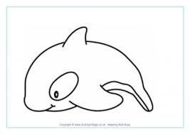 Dolphin Colouring Page 3