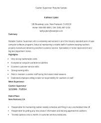 Resume For Cashiers Cashier Experience Examples This Is Example Of Supervisor