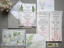 Woodland Wedding Invites Custom Watercolor Suite