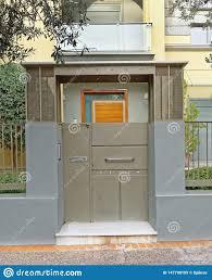 100 Contemporary Gate Athens Greece House Entrance Stock Image