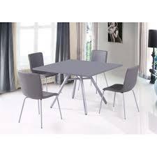 chaise simili cuir gris table et 4 chaises simili cuir gris
