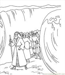 Real Madrid Moses Red Sea Colouring Pages