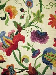 Jacobean Floral Curtain Fabric by Gloria Jubilee Richloom Fabric