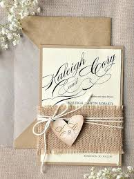 Wedding Invitations Made With Burlap Rustic Invitation Using Diy