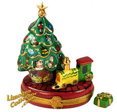 Christmas Tree With Choo Train Beauchamp Exclusive Limoges Box