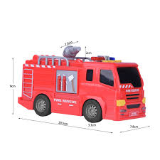 Vehicle Fire Truck Mini Car Model Inductive Children Kids ...