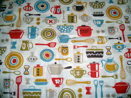 Curtain Fabric By The Yard by Fabric For Kitchen Window Treatments Retro Kitchen Curtains 1950s