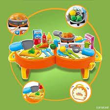 jeu cuisine 31 pièces jeu d imitation ustensiles jouet de cuisine pour enfants