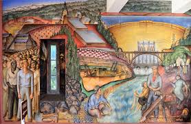 Coit Tower Murals Images by Detail From John Langley Howard U0027s 1934 U201ccalifornia Industrial