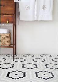 hexagon bathroom floor tile centsational style throughout designs