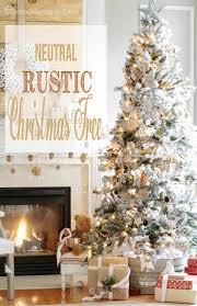 Fireplace With Cotton Wreath Galvanized Tub White Stool Flocked Christmas Tree Presents