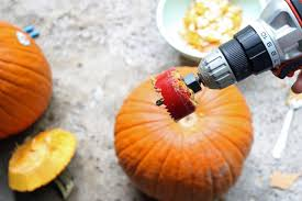 Pumpkin Carving Drill Holes by How To Make A Pumpkin Totem Pole For Halloween How Tos Diy