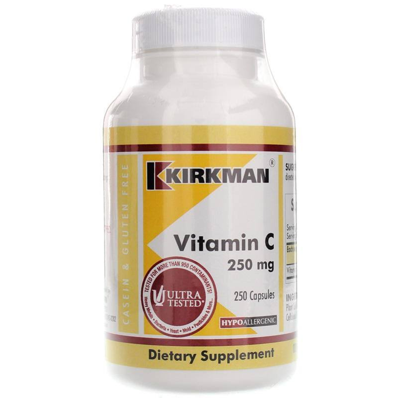 Kirkman Labs Vitamin C Hypoallergenic Dietary Supplement - 250ct