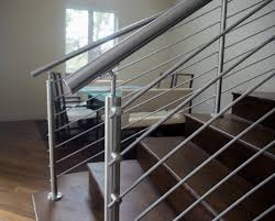 Curved Stainless Steel Rod Railings | Bella Stairs, LLC | Archinect Stainless Steel Handrail See Tips And 60 Models With Photos Glass Railing Fabricators In Shimla Manali Interior Railings Gallery Compass Iron Works The Sleek Design Of Stainless Cable Rail Systems Pair Well Modern Steel Stair Railing Installing Elements The Handrails Price Naindien Handrails Unique Designs Staircase Handrail Work Kochi Kerala Ernakulam Thrissur Systems Square Middle Post W