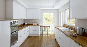 cuisine blanche plan travail bois cuisine blanche et bois le mariage parfait pour une ambiance
