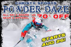Christy Sports Ski And Snowboard by The 2016 Denver Powder Daze Ski U0026 Snowboard Sale Event Begins