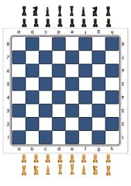 Click To See Printable Version Of Blue Chessboard With Pieces Board Game Paper Craft