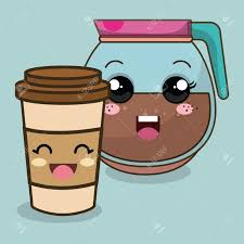 Coffee Pot With Face Clipart