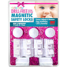 Magnetic Lock Kit For Cabinets by Amazon Com 8 Locks U0026 3 Keys Drill Free 3m Adhesive Magnetic