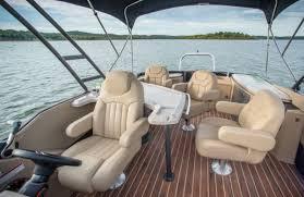 Crest Pontoon Captains Chair by Crest Classic 230 Chateau Pontoon U0026 Deck Boat Magazine