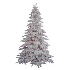 Flocked Artificial Christmas Trees Sale by Shop Vickerman 4 5 Ft Pre Lit White Spruce Flocked Artificial