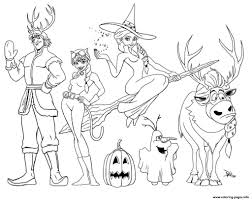 Halloween Pages 1473957182frozen Jpg Frozen Coloring Printable To Color For Adultshalloween Kids