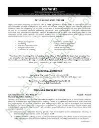 Physical Education Resume Sample