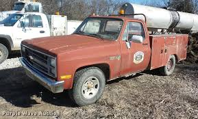 100 Pickup Truck Utility Beds 1985 Chevrolet 20 Utility Bed Pickup Truck Item EI9756 S