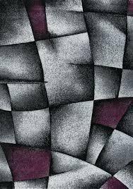 designer teppich lila grau modern dicht gewebt i9445