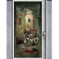 Halloween Scene Setters Uk by 5ft Bloody Hospital Wall Door Banner Halloween Scene Setter