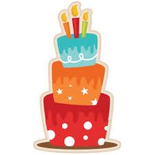 Birthday Cake SVG scrapbook cut file cute clipart files for