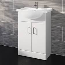 Gloss White Designer Bathroom Furniture Sink Cabinet Vanity Basin