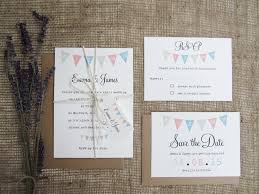 Bunting Wedding Stationery Suite A Rustic