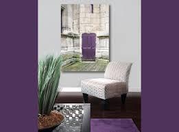 Large Canvas Art Purple Door In Paris Photography On