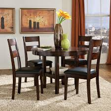 Standard Furniture Pendwood 5 Piece Round Table Dining Side Chairs Set