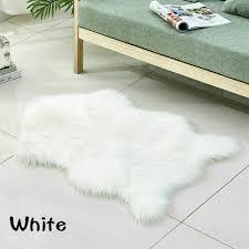 kunst wolle fell teppich rutschfest wohnzimmer flauschig