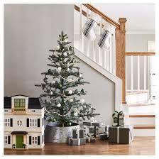 White Christmas Tree Skirt Walmart by Galvanized Metal Tree Collar Hearth U0026 Hand With Magnolia Target