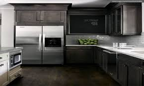 Kitchen Backsplash Ideas With Dark Wood Cabinets by White Tile Pattern Ceramic Countertops Gray Kitchen Cabinets
