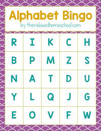 Free Printable Alphabet Letters Bingo Game
