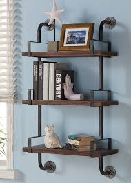 Trent Austin Design Industrial Walnut Wood Floating Wall Shelf Shelving
