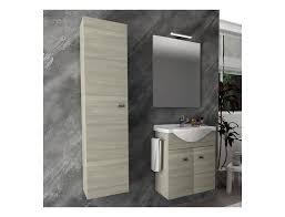 badezimmer badmöbel 55 cm aus eiche grau holz mit keramik waschtisch zubehör standard abmessungen 55 cm farbe eiche grau