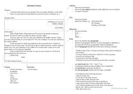 Informal Letter Format And Example Copy 17 Free Esl Informal